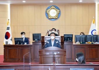 광양시의회 백성호 의원, 급식노동자 처우개선 5분 발언